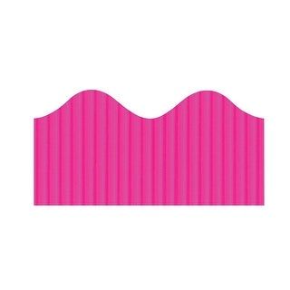 Bordette Pacon Scalloped Magenta Border, 2-1/4 in X 50 ft