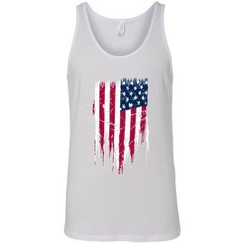 Men's Tank Top Ripped Distressed USA Flag Patriotic Stars & Stripes Veteran Pride