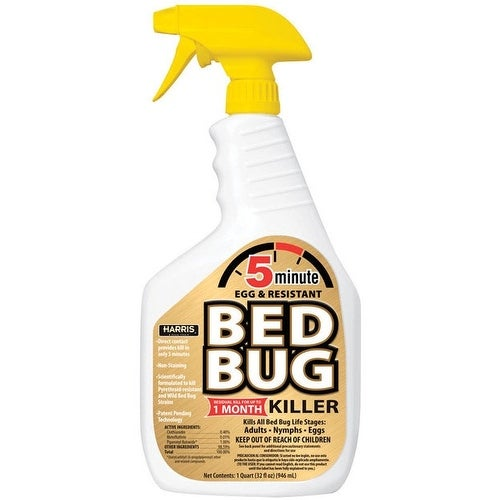 Harris 5 Minute Egg Kill & Resistant Bed Bug Killer, 32 Oz