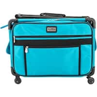 "TUTTO Machine On Wheels Case-20""X13""X9"" Turquoise - Blue"