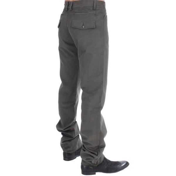Cavalli Cavalli Green straight fit pants - it48-m