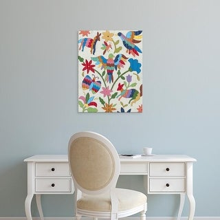 Easy Art Prints Chariklia Zarris's 'Otomi Embroidery II' Premium Canvas Art