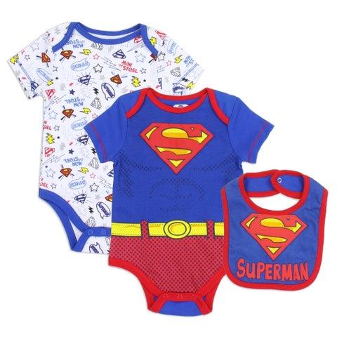 DC Comics Superman 2-Piece Creeper Set with Bib