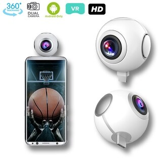 Indigi 360 Fisheye Panoramic Asteroid Panorama View Video Recorder - Dual Wide Angle - for Android