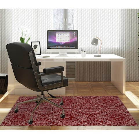 BAYBAR BURGUNDY Office Mat By Kavka Designs