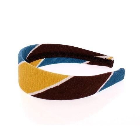 Dolce & Gabbana Dolce & Gabbana Multicolor Linen Logo Headband Hair Diadem - One size