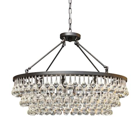 Celeste Glass Crystal Black Chandelier