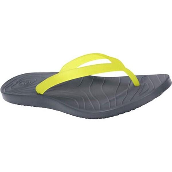 4100ca5c4186 Shop Ocean Minded by Crocs Women s Malia II Flip Charcoal Lime Green ...