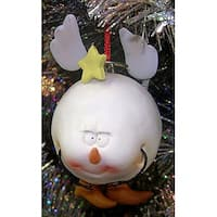 Snowballz Angel Claydough Christmas Ornament #23702 - WHITE
