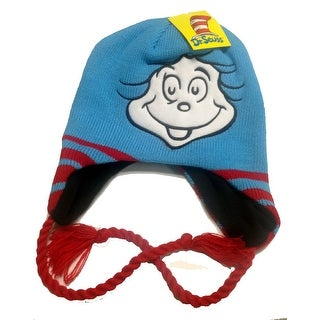 Dr. Seuss Thing One Thing Two Beanie Hat With Braids
