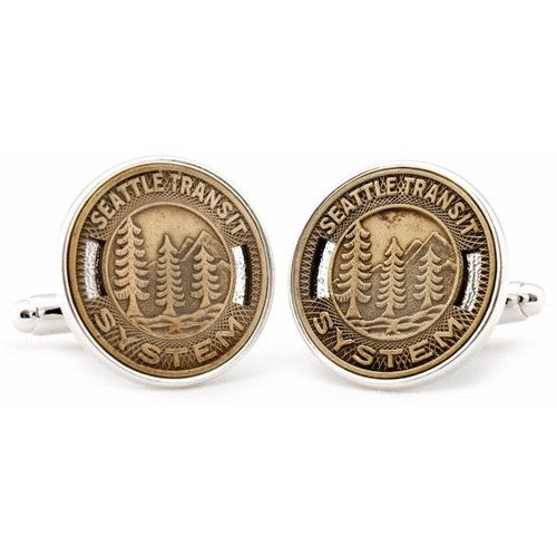 Seattle Transit Token Cufflinks Coin Collector Memorbilla