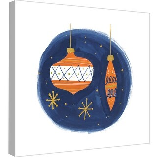 """PTM Images 9-99015  PTM Canvas Collection 12"""" x 12"""" - """"Ornaments 6"""" Giclee Holiday Art Print on Canvas"""