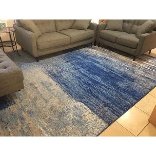 Safavieh Adirondack Brynn Modern Abstract Silver/ Blue Rug - 10' X 14'