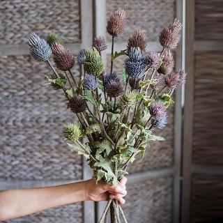 "RusticReach Artificial Thistle Flower Stem 26"" Tall"
