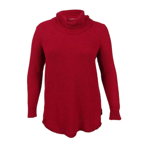 Lucky Brand Women's Plus Size Turtleneck Sweater - Red Multi
