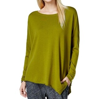 Eileen Fisher Womens Pullover Sweater Asymmetric Bateau Neck