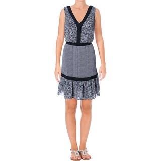 MICHAEL Michael Kors Womens Liona Casual Dress Crepe Floral