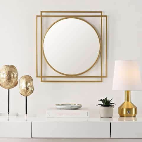 """SAFAVIEH Resser 23-inch Gold Round Wall Accent Mirror - 20.3"""" x 1"""" x 20.3"""""""