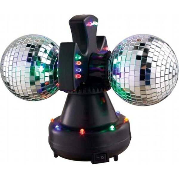 VE V0235 Duo-Led Twin Rotating Mirror Balls