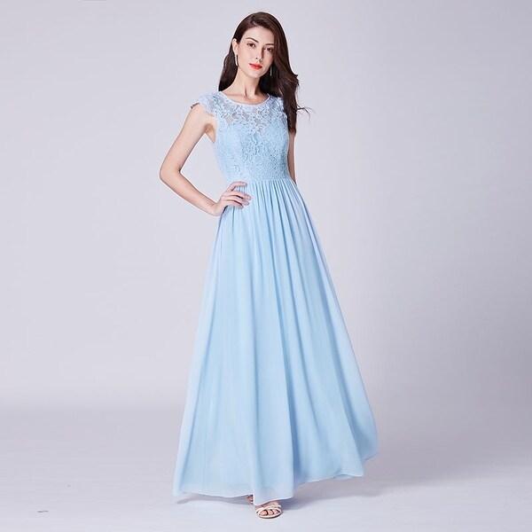 16a3b401ccaee Ever-Pretty Womens Lace Cap Sleeve Evening Wedding Party Bridesmaid Dress  07364