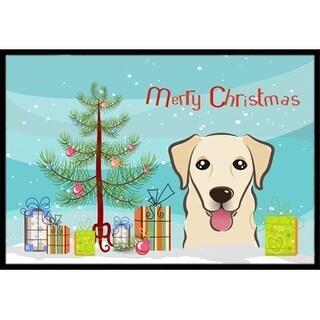 Carolines Treasures BB1624MAT Christmas Tree & Golden Retriever Indoor or Outdoor Mat 18 x 27