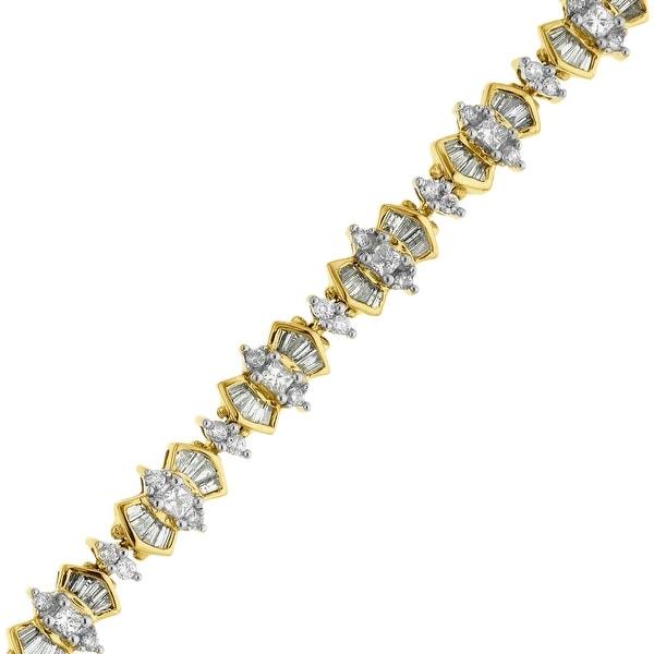 4 1/2 ct Diamond Bracelet in 14K Gold