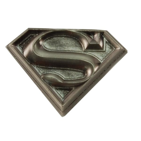 "Superman Logo 1"" Pewter Lapel Pin"