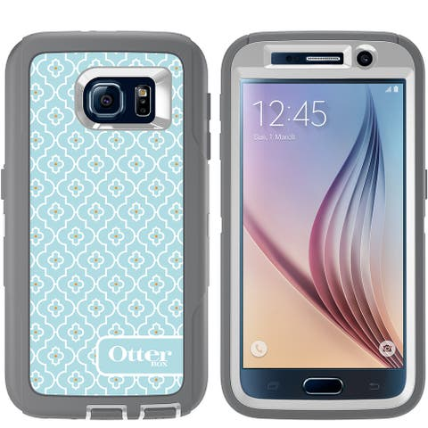 OtterBox Defender Series With Screen Protector And Holster for Samsung Galaxy S6 - Non-Retail Packaging - Grey Sky Blue