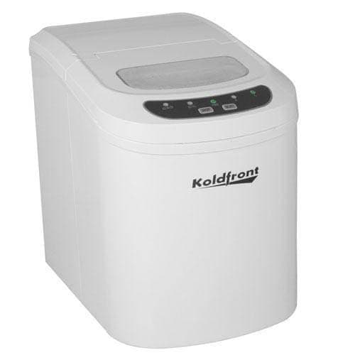 Koldfront KIM202 10 Inch Wide 1.5 Lbs. Capacity Portable Ice Maker with 26 Lbs. Daily Ice Production