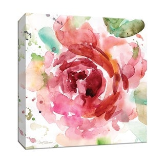"""PTM Images 9-147291  PTM Canvas Collection 12"""" x 12"""" - """"Bold Blush III"""" Giclee Flowers Art Print on Canvas"""