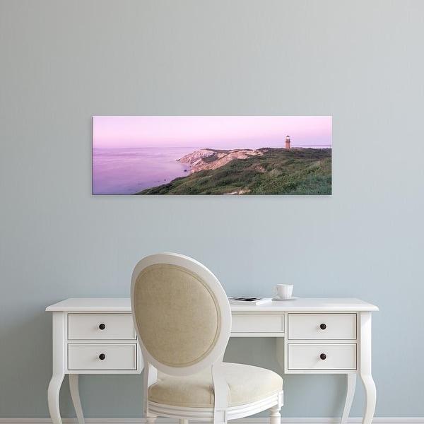 Easy Art Prints Panoramic Images's 'Lighthouse, Gay Head, Marthas Vineyard, Massachusetts, USA' Premium Canvas Art