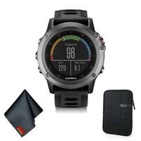 Garmin FENIX 3 Multi-Sport Training GPS Watch (Gray w/ Black Band) Basic Accessory Bundle
