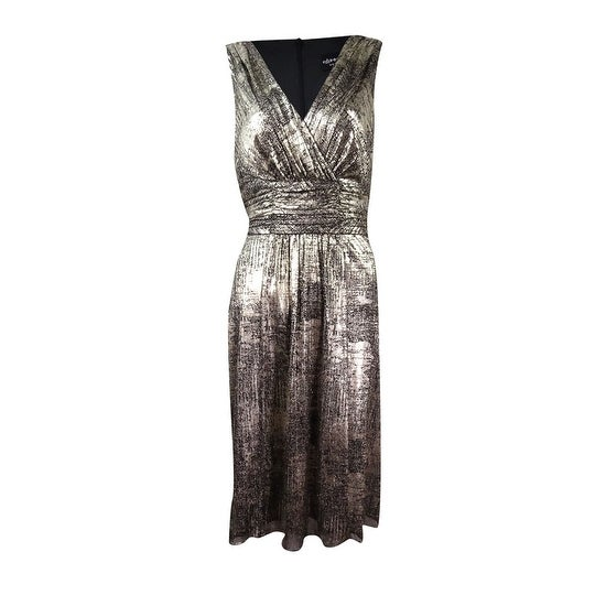 81fca12e81204 Connected Women's Metallic-Print A-Line Dress