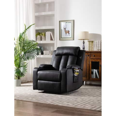 Furnia Faux Leather Recliner w/ Dual Cup Holders