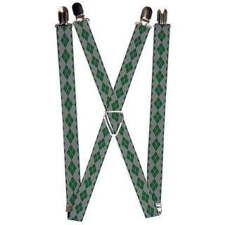 Joker Diamonds Gray Green Suspenders - multi - S