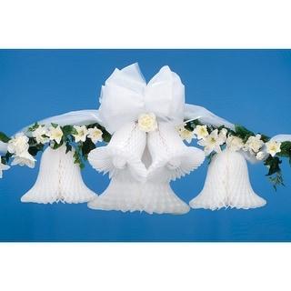 """Victoria Lynn Bridal Paper Bells 9"""" 2/Pkg-White - White"""