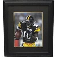 43cb3cdb1 Santonio Holmes signed Pittsburgh Steelers 16x20 Photo Custom Framed black  jersey Holmes Hologram