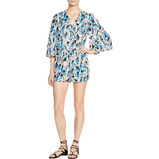 Aqua Womens Romper Lined Printed