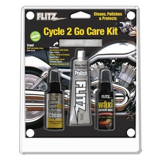 Flitz Cycle2Go Care Kit Metal Polish SS Cleaner Speed Wax - CY 41503