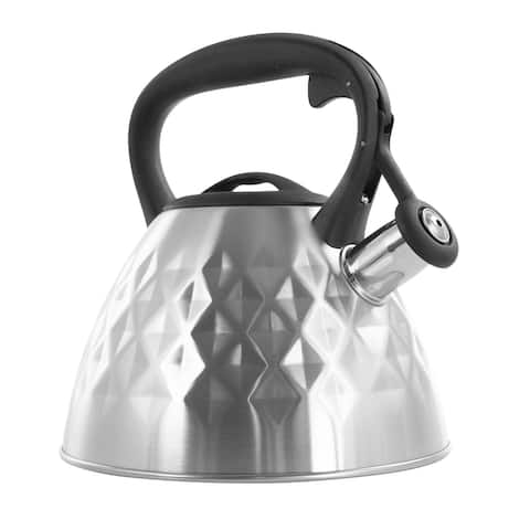 Mr. Coffee Donato 2.3 Quart Stainless Steel Wide Whistling Tea Kettle