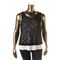 Kenzie Womens Juniors Slub Knit Pullover Top