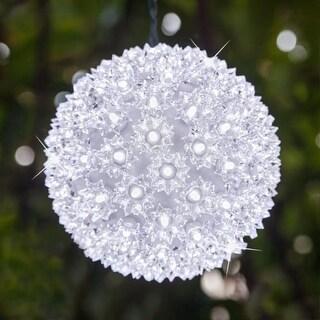 "Wintergreen Lighting 70336 7.5"" LED Starlight Sphere with 100 Cool White Lights"