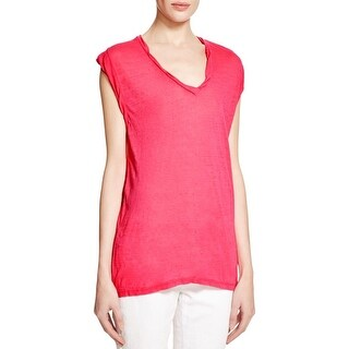 Pam & Gela Womens T-Shirt Burnout V-Neck
