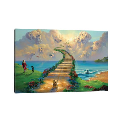 """iCanvas """"All Dogs Go To Heaven III"""" by Jim Warren Canvas Print"""