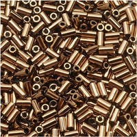 Toho Bugle Tube Beads Size 1 / 2x3mm Bronze 8 Grams