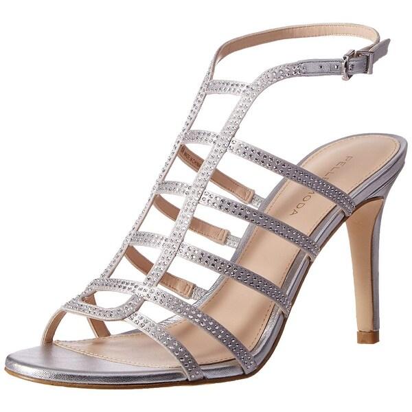 Pelle Moda Women's Nell2-Sl Dress Sandal, Silver, Size 8.5