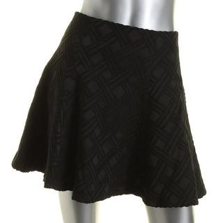 Alice + Olivia Womens Textured Above Knee Flare Skirt - 0