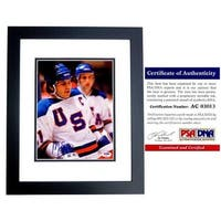8 x 10 in. Miracle on Ice Game Winning Goal Mike Eruzione Signed