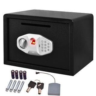 Costway 14'' Biometric Fingerprint Digital Electronic Safe Box Keypad Lock W/ Front Slot