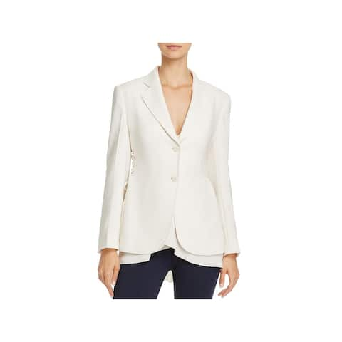 Theory Womens Admiral Two-Button Blazer Crepe Office